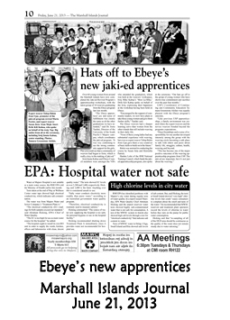 Ebeye's new apprentices.  Marshall Islands Journal