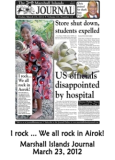 I rock...we all rock in Airok.  Marshall Islands Journal