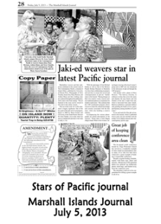 Stars of the Pacific Journal.  Marshall Islands Journal
