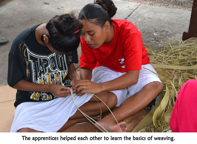 The apprentices enjoyed the closeness created by working together